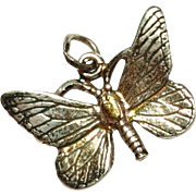 Vintage Butterfly Sterling Silver charm /  Pendant 925