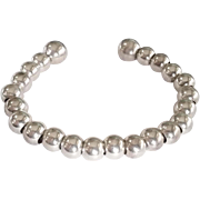 Sterling Silver Graduated Ball Beads Bracelet with screw ball end Cool! 20.2g