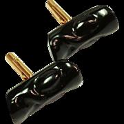 Black Coral Cufflinks 1/20 12kt Gold Fill Cuff links