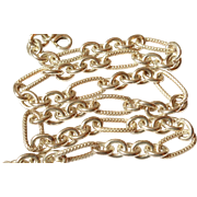 """Textured Link Sterling Silver Necklace 18 1/8"""" long  37.8 gr"""