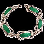 SALE Rare .800 Silver Enamel Bracelet Stunning!