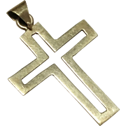 Small Sterling Silver Cross Pendant 925