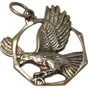 REDUCED Vintage Flying Eagle / Bird Sterling Silver Pendant 925