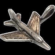 REDUCED Vintage sterling silver fighter jet charm/pendant