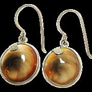 Sajen Sterling Silver Shell Earrings Hook Style 925