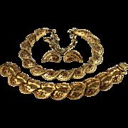 SALE Coro Pegasus Necklace Bracelet Earring Set