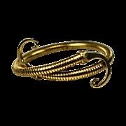 SALE Awesome Castlecliff Cleopatra Snake Skin Egyptian Revival Style Forearm Bracelet