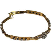Vintage Signed Barclay Rhinestone Choker Necklace