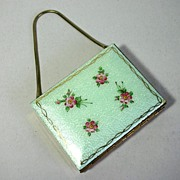 Stunning French Enamel Double Minaudiere, Necessaire, Purse