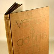 SOLD Venus & Adonis, William Shakespeare, Ill Rockwell Kent