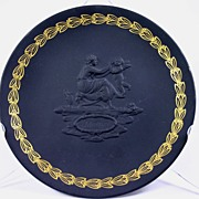 "Wedgwood Black Basalt ""Mother"" Plate, Mother's Day"