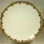 Limoges T & V Gilt Edged Serving Tray with Handles