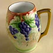 Large Hand Painted Signed Rosenthal Cup/Beaker with Grapes