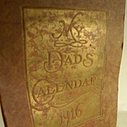 My Dad's Calendar 1916, Lord Bacon, Whittier, Pope