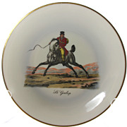Limoges Raynaud & Co Cabinet Plate: Le Galop