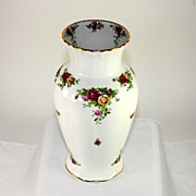 Classic Royal Albert country roses large vase
