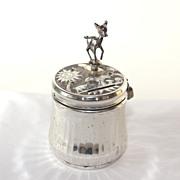 Unique Reuge Sainte Croix music box, still bank, Bambi
