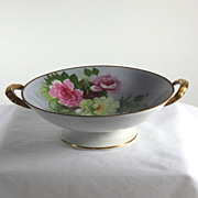 Beautiful Noritake footed serving dish with roses