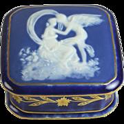 Limoges Pate Sur Pate Dresser Box, Angels Embrace