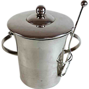 Vintage French Silver-plate Ice Cream Bucket, Glacier