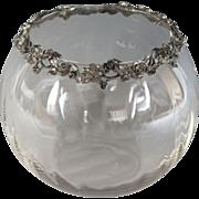 Vintage Glass and Silver Flower Vase