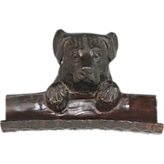 Vintage Bronze Pen tray with Dog Head