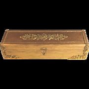 Vintage Gilded Wood Austrian Court Glove Box