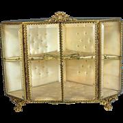 Antique French Ormolu Jewelry Vitrine Casket, Extra Large