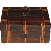 Antique French Inlaid Wood Dresser Box