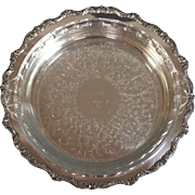 Vintage Poole Silverplate Pie Plate Dish with Pyrex Liner