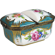 Double Limoges Hand Painted Trinket Box