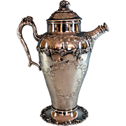 Barbour Silverplate Hand Chased Cocktail Shaker Repousse Silver Plate