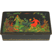 Vintage Russian Handpainted Lacquer Box Signed Dated and Numbered