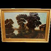 Oil on Canvas Landscape by listed German artist Willi Hans Schwartz