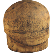 Wood Wooden Hat Mold Cloche Art Deco