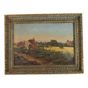 Oil on Canvass Painting by French Artist Lucas de Montigny (1844-1908)