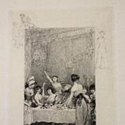 Beautiful Small Engraving by Francois Lalaisse