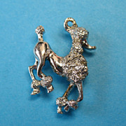 Vintage Sterling Silver French Poodle Show Dog Charm