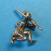 Vintage Sterling Tribal Warrior Charm