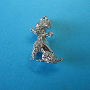 Sterling Stylistic French Poodle Dog Charm