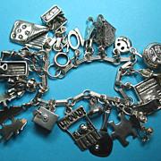 Vintage Sterling Childhood Memories Charm Bracelet