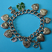 All Walter Lampl Charms & Sterling Silver Victorian Charm Bracelet