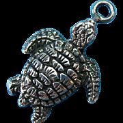 Vintage Sterling Silver Sea Turtle Charm