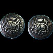 Vintage Metal Buttons Signed Lidz