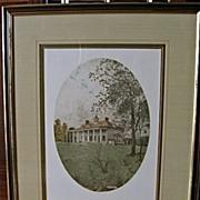 Original Eidenberger Aquatint of Mt. Vernon-Pair-2 of 2- Price is for Pr.