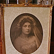 Wedding Photograph with Gilt Roses Frame