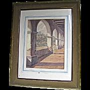 Charles Percy Austin Watercolor-1927 Mission San Juan Capistrano