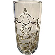 Bjorn Wiinblad Commedia Dell Arte Etched Crystal Art Glass Vase