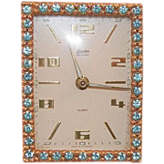 SOLD Vintage Linden Jeweled Alarm Clock Made In Germany