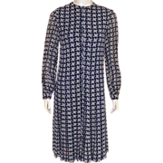 REDUCED Vintage 1960's Oscar De La Renta Navy and White Dress